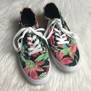 Vans Tropical Floral Palm Leaf Sneakers